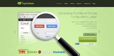 Schedule send emails in Gmail. Track emails. Set reminders for follow ups